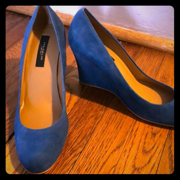 Ann Taylor Shoes - Ann Taylor Suede Wedges